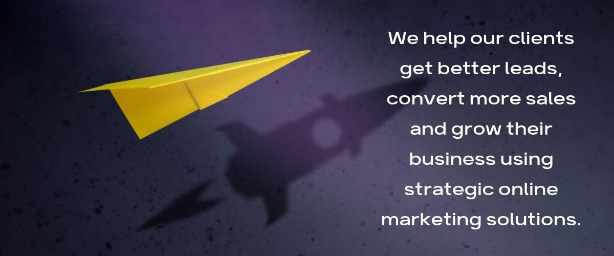 Info Tech Wizards Web Design and Marketing Agency - Paper Plane to Rocket with Quote - We help our clients get better leads, convert more sales and grow their business using strategic online marketing solutions.