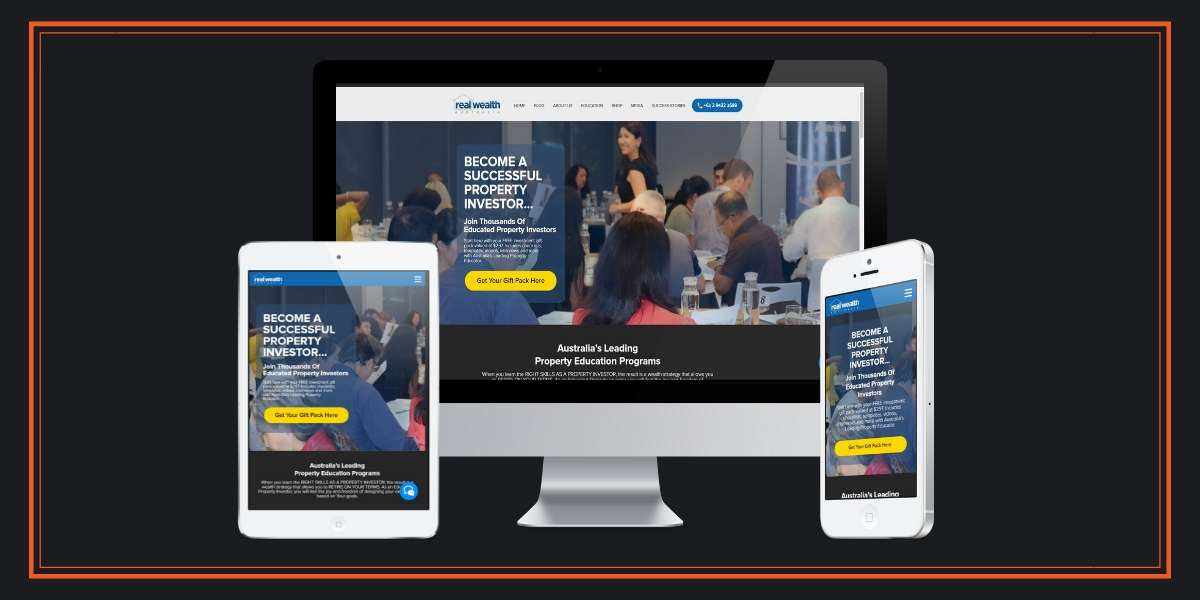 Real Wealth Australia - Mobile Responsive Website